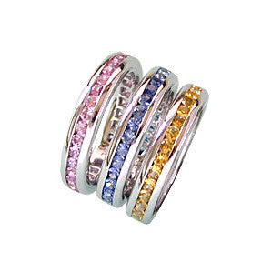 Sapphire Band Rings, 18k gold
