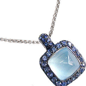 Topaz and Sapphire Necklace, 18k gold