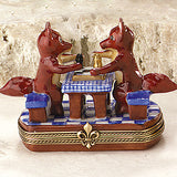 Fox Friends Limoges Box