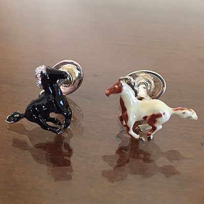 Horse Cuff Links, Sterling Silver