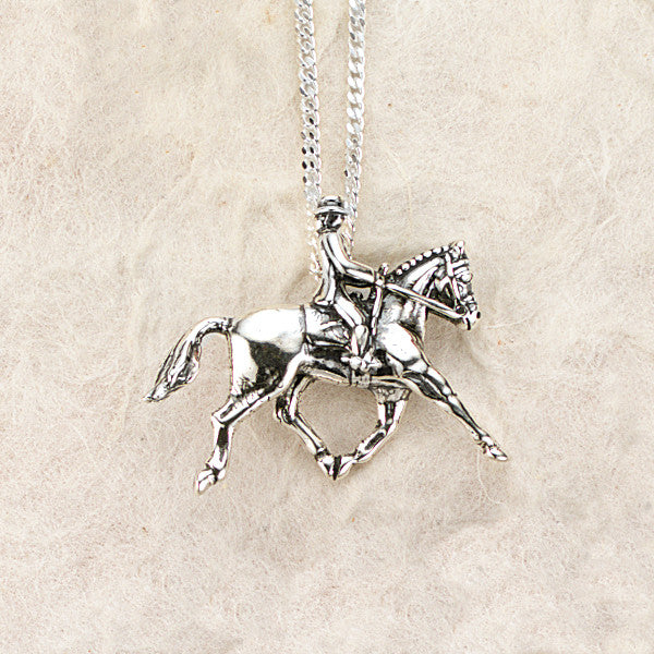 Dressage Necklace, Sterling Silver