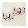 Horseshoe Earrings, Sterling Silver