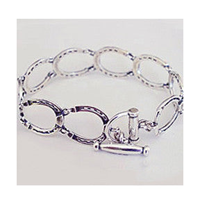 Horseshoe Toggle Bracelet, Sterling Silver