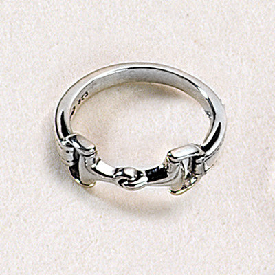 Snaffle Bit Ring, Sterling Silver