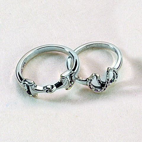 Double Horse Shoe RIng, Sterling Silver
