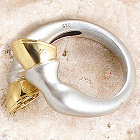 Golden Hoof Ring, 18k & Sterling