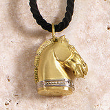 Golden Trojan Horse Necklace, 18k Gold