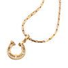 Diamond Horseshoe Pendant, 18k gold
