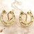 Diamond Horseshoe Earrings, 18k Gold