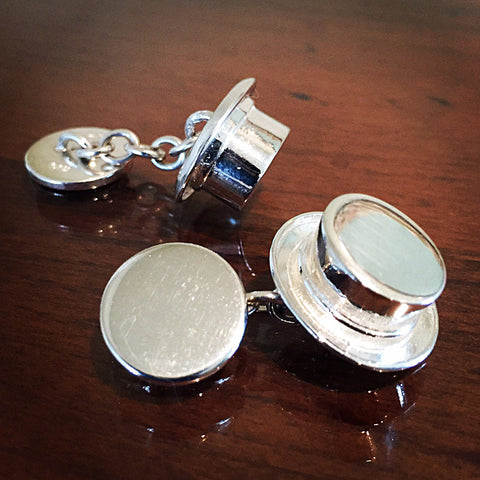 Dressage Hat Cuff Links, Sterling Silver