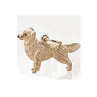 Golden Retriever Charm, 14k gold