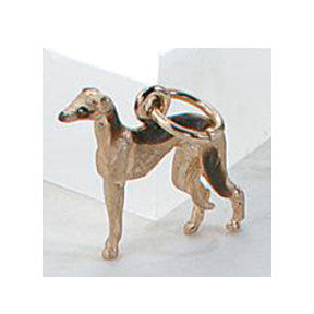 Greyhound Charm, 14k Gold