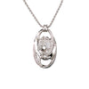 Diamond Horse Necklace, 18k white gold