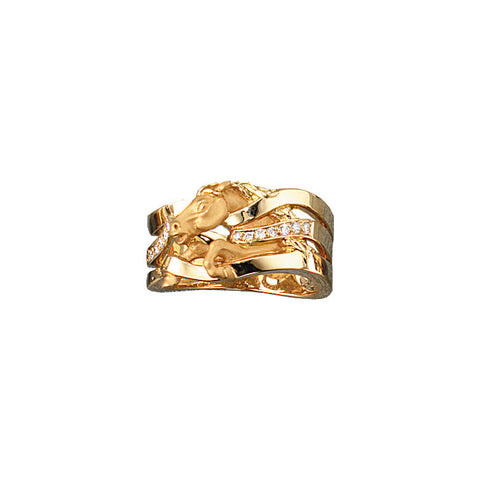 Diamond Horse Ring, 18k gold