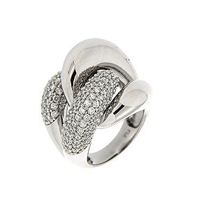 Curb Chain Pave' CZ Ring