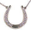 Grand Diamond Horseshoe Necklace, 14k