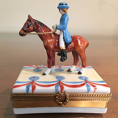 Horse & Rider Limoges Box