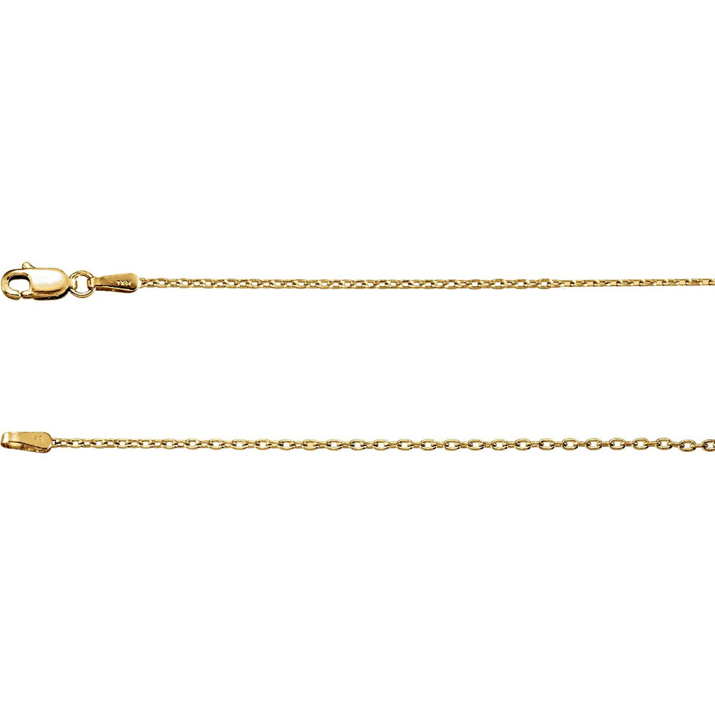 Cable Chain Necklace, 14k yellow gold