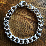 Curb Chain Bracelet, Sterling Silver