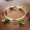 Horseshoe Tourmaline Bangle Bracelet, 14k gold