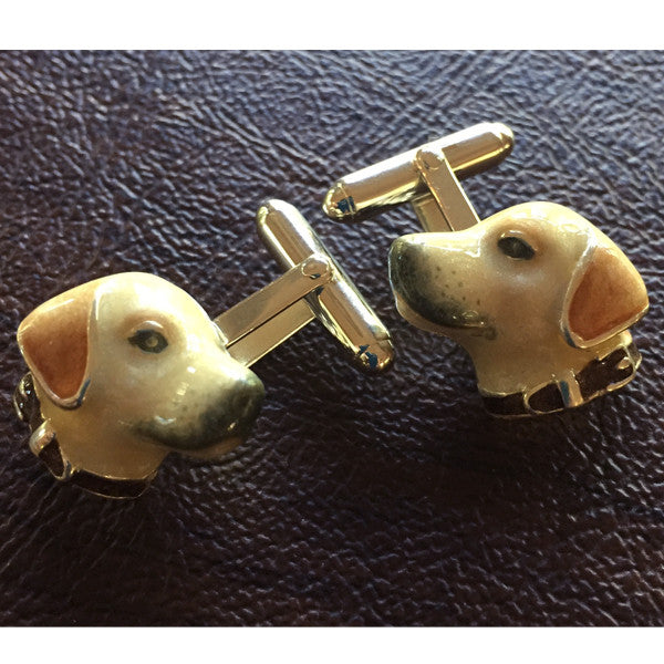 Lab Enamel Cufflinks, Sterling Silver