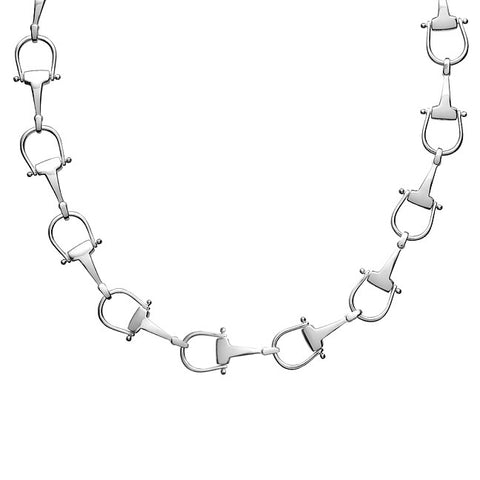 Equine Horse Bit Link Necklace, Sterling Silver