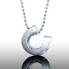 Little Luck Horseshoe Necklace, Sterling Silver
