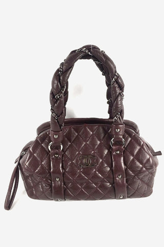Red Caviar Quilted Old Medium Boy Bag RHW