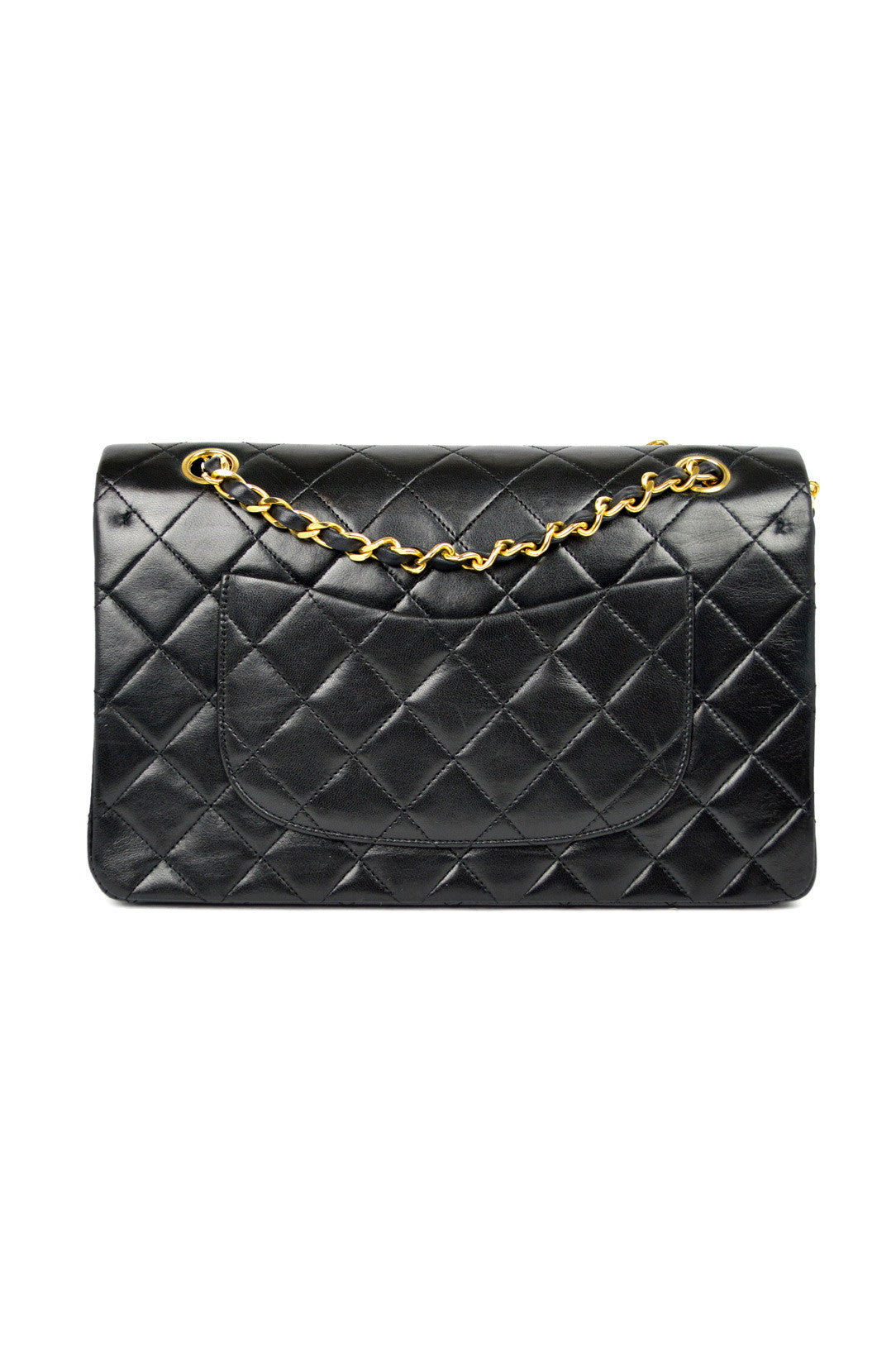 "Black Lambskin Classic 2.55 10"" Double Flap Bag (ON LAYAWAY)"