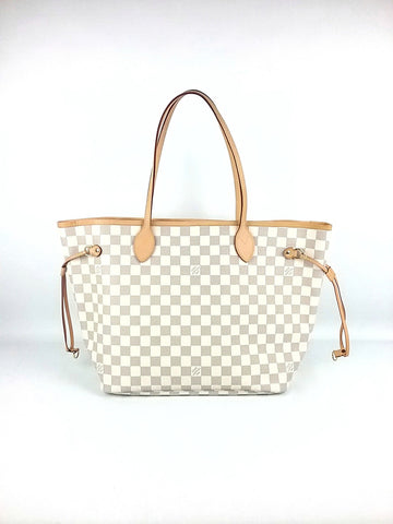 Damier Azur Canvas Neverfull MM Tote