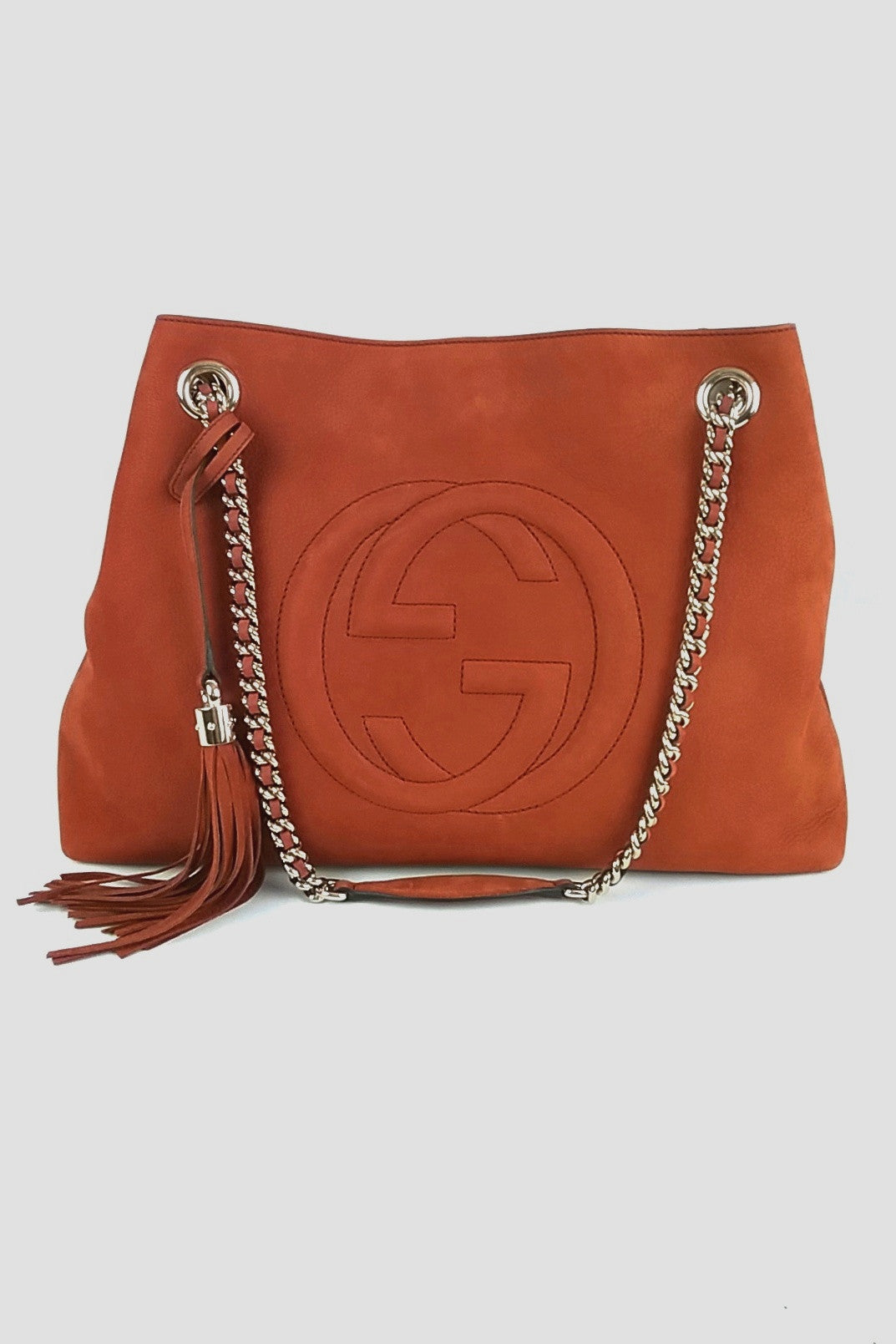 Terracotta Suede Soho Bag
