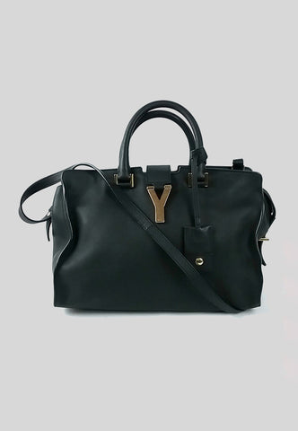 Black Leather Classic Cabas Y Bag