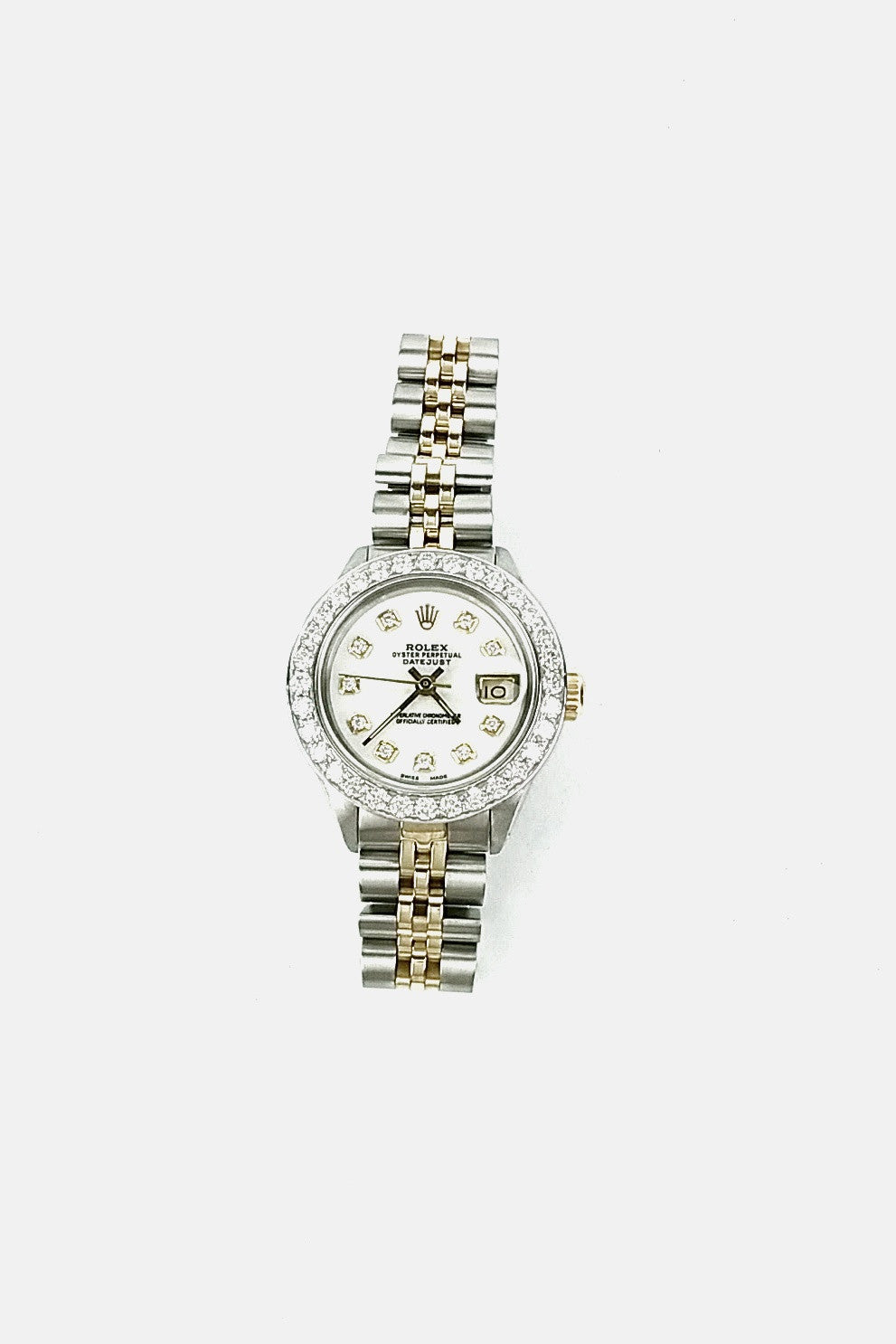 Oyster Perpetual Datejust Stainless Steel & 18K Yellow Gold w/ Diamond 26mm Watch - RESERVED