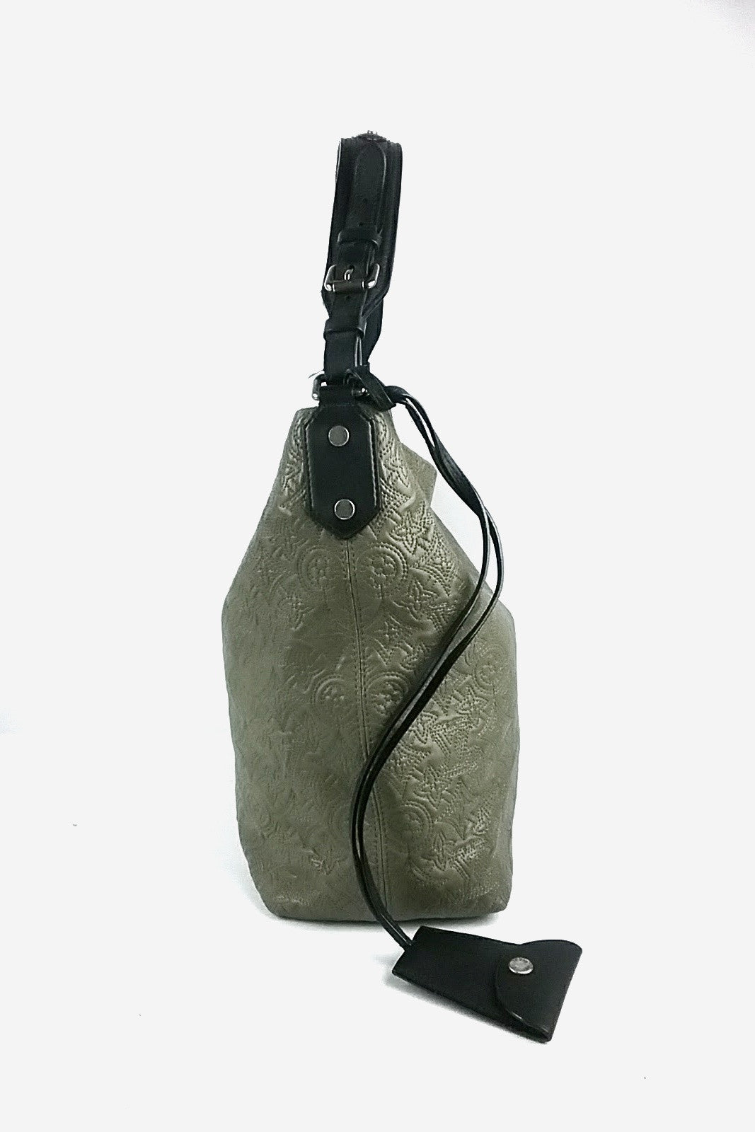 Olive Monogram Antheia Lambskin Hobo GM