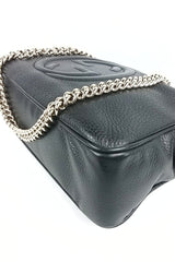 Black Soho Leather Disco Bag - On Layaway
