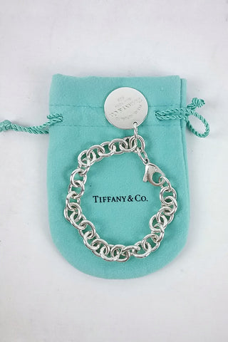 Return to Tiffany Round Tag Link Bracelet