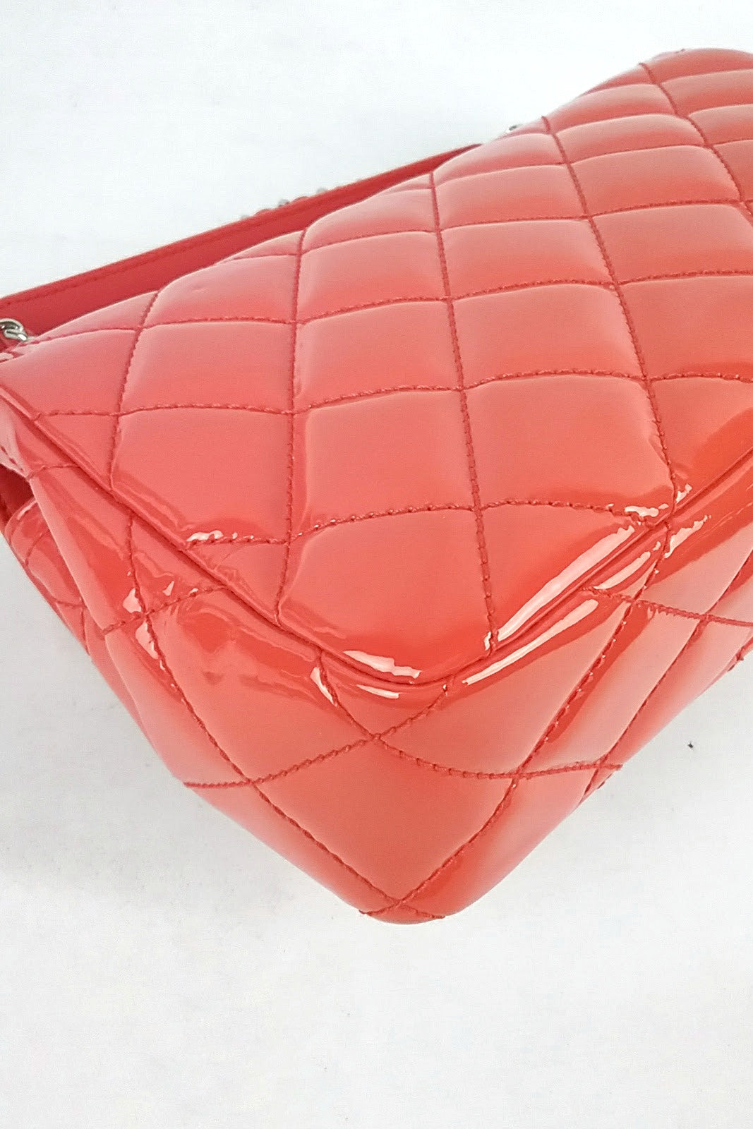 [Limited Ed.] Bright Orange Patent Leather Flap Bag