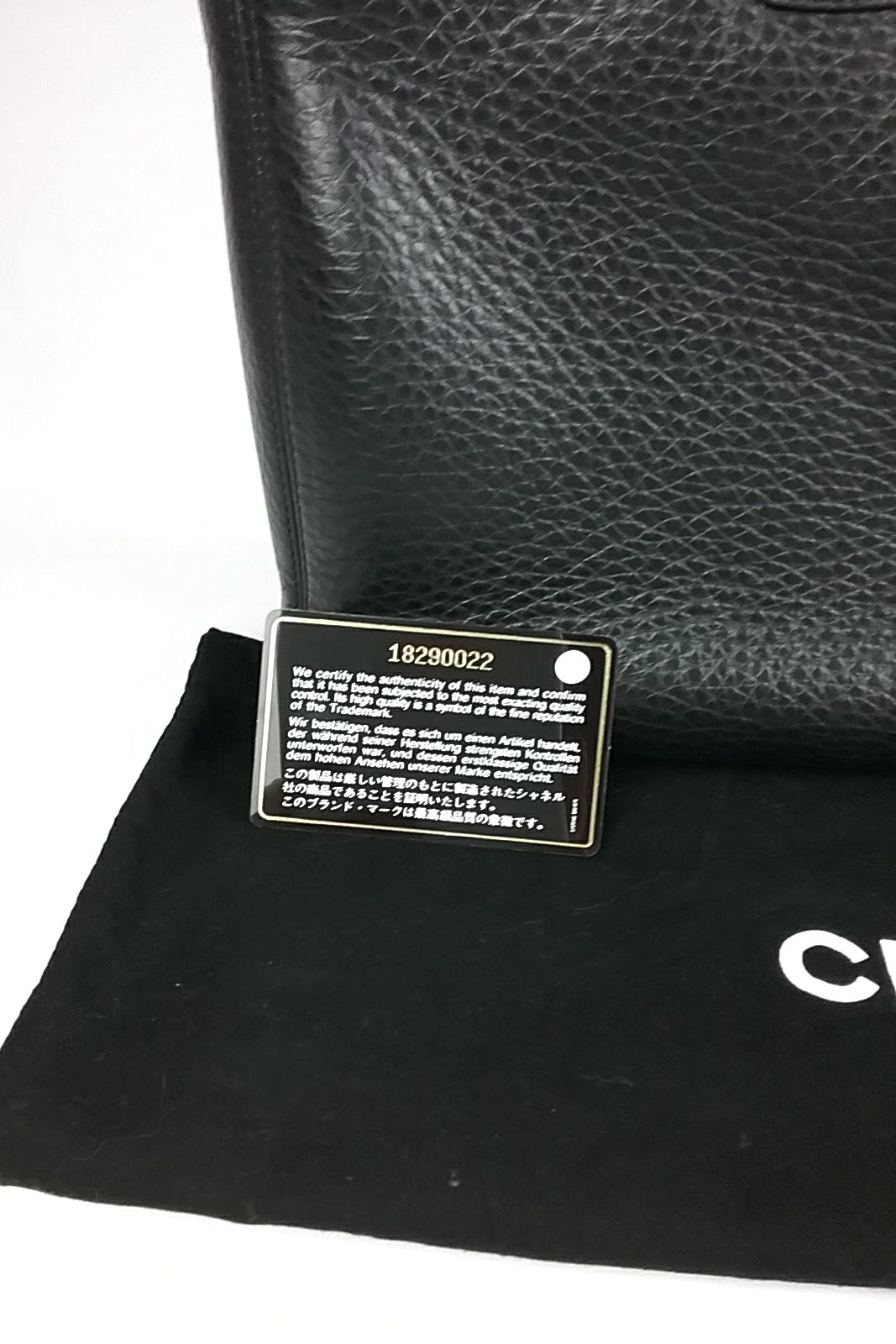 Black Leather Cerf Executive Tote SHW
