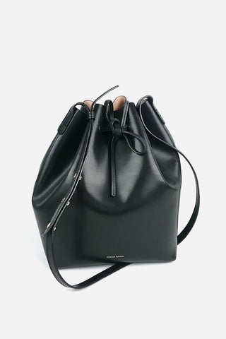 Black Leather Peekaboo w/ Shoulder Strap