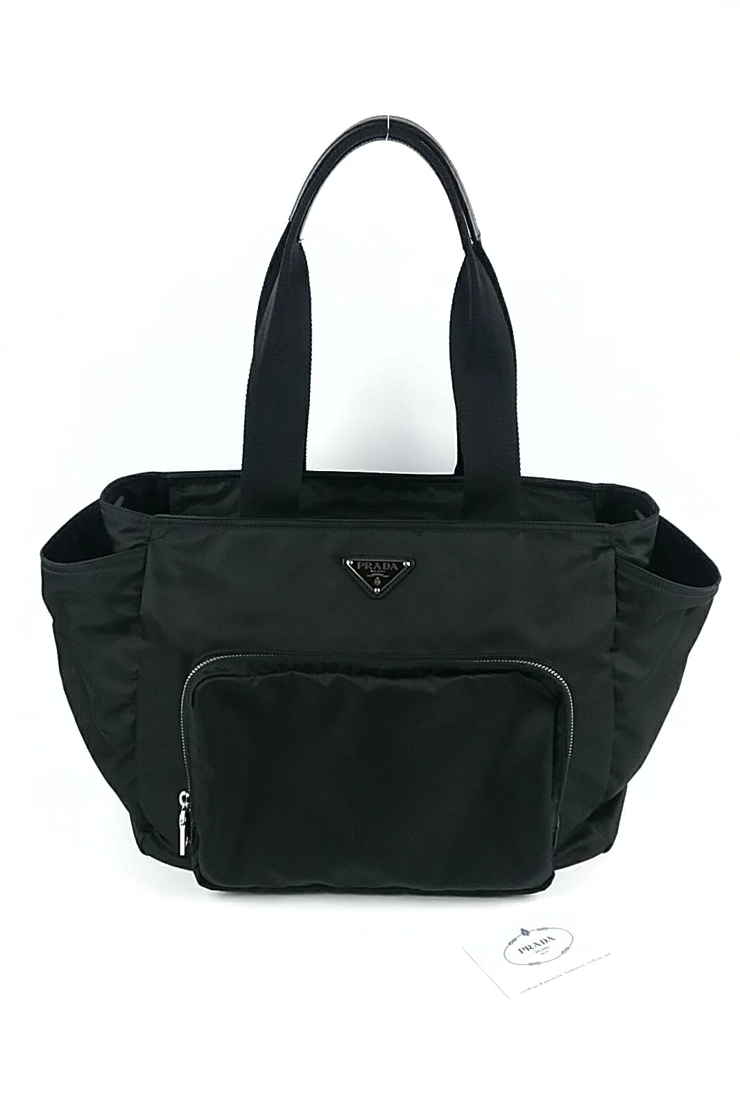Black Nylon Diaper Bag