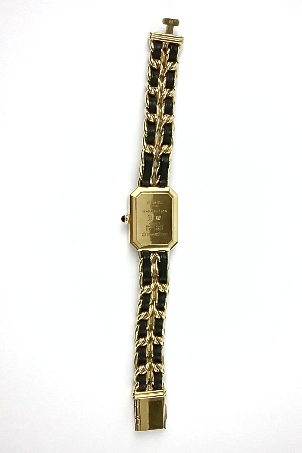 Vintage Premiere 18K Gold Plated Black/Gold Watch