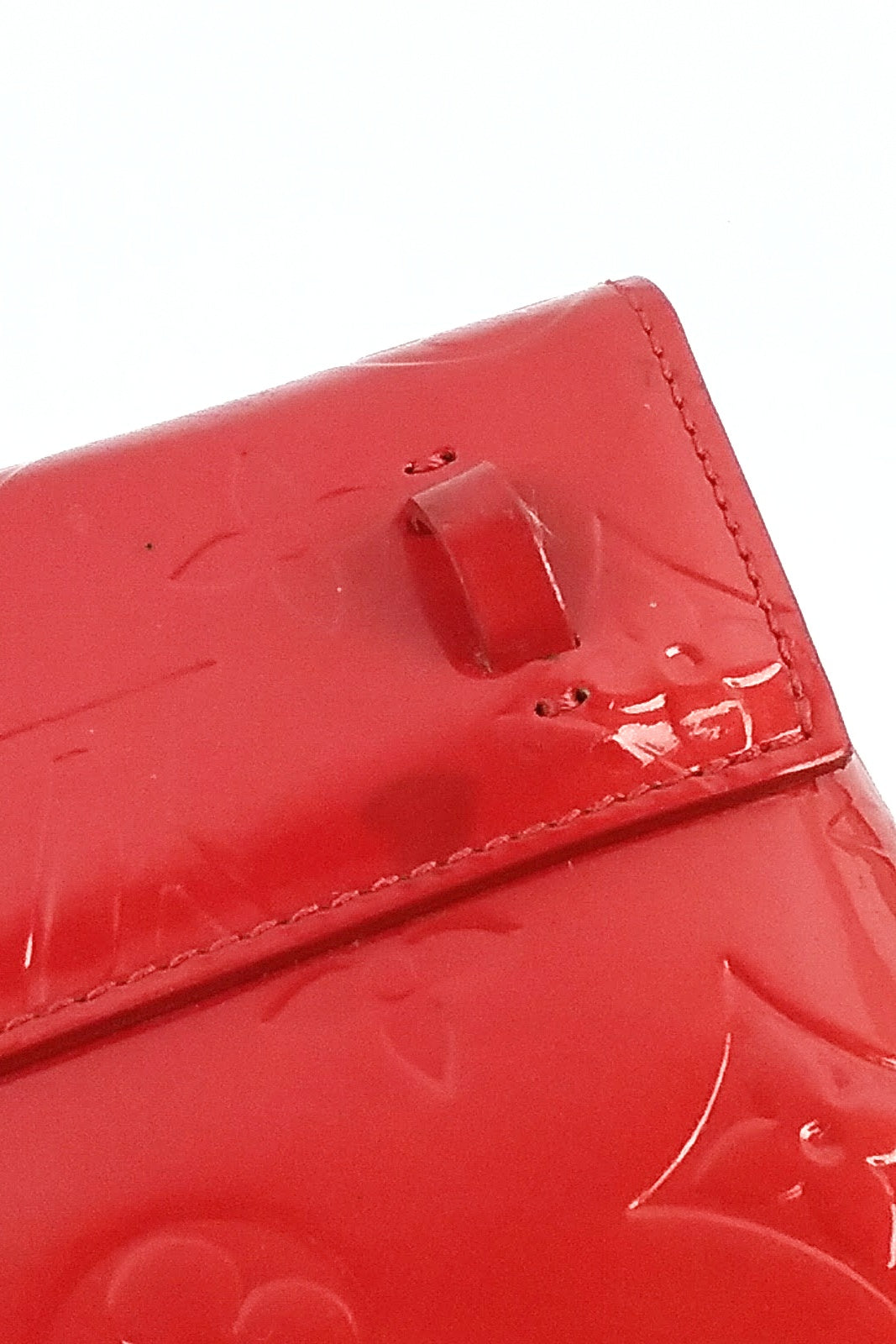 Red Monogram Vernis Walker Wallet