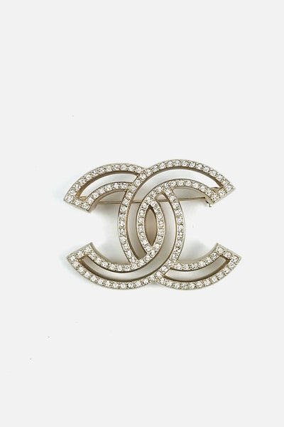 Crystal CC XL Brooch