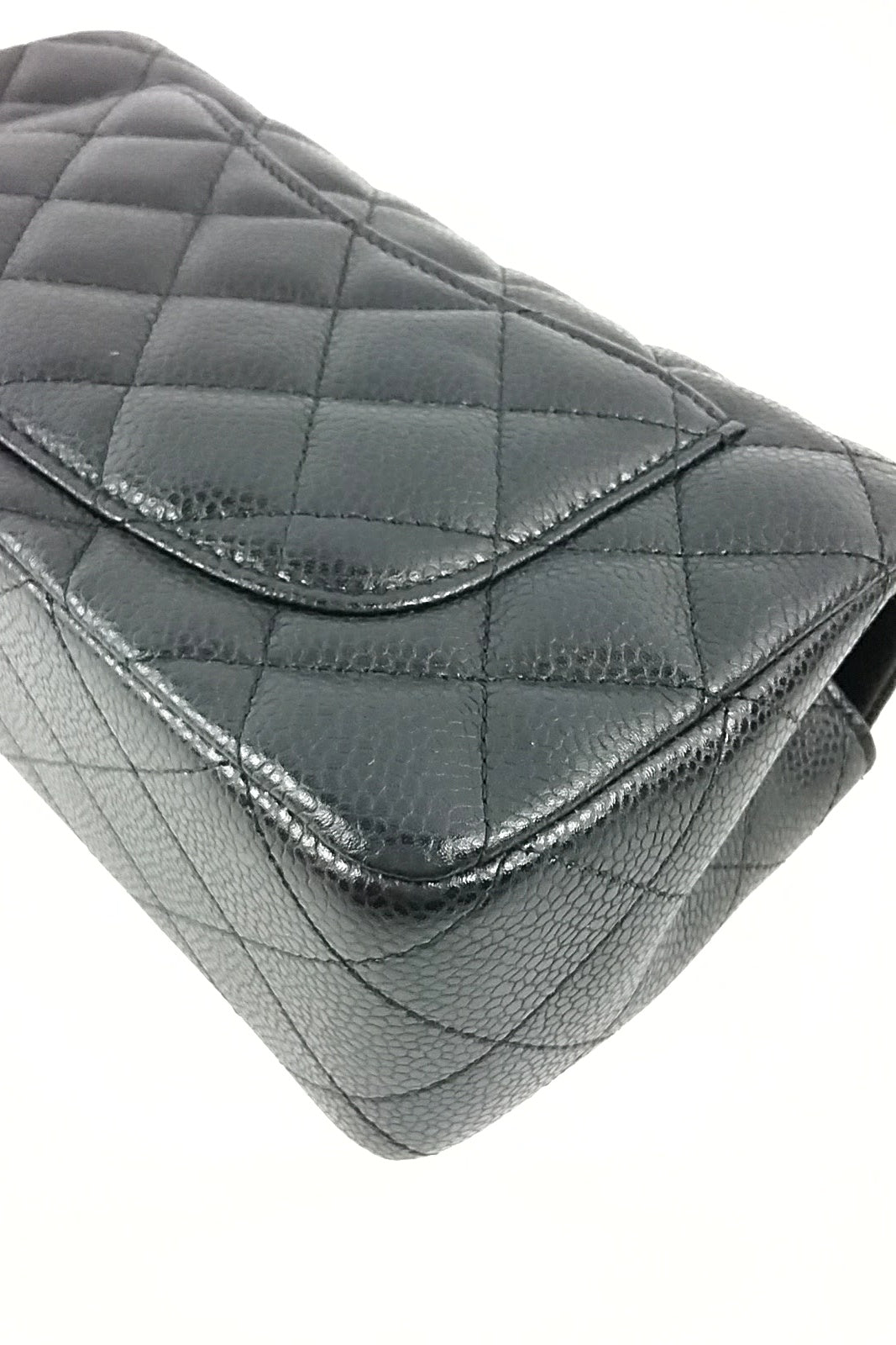 Black Caviar Rectangular Mini Flap Bag - ON LAYAWAY