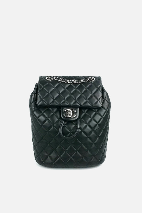 Black Quilted Lambskin Small Urban Spirit Backpack - Haute Classics