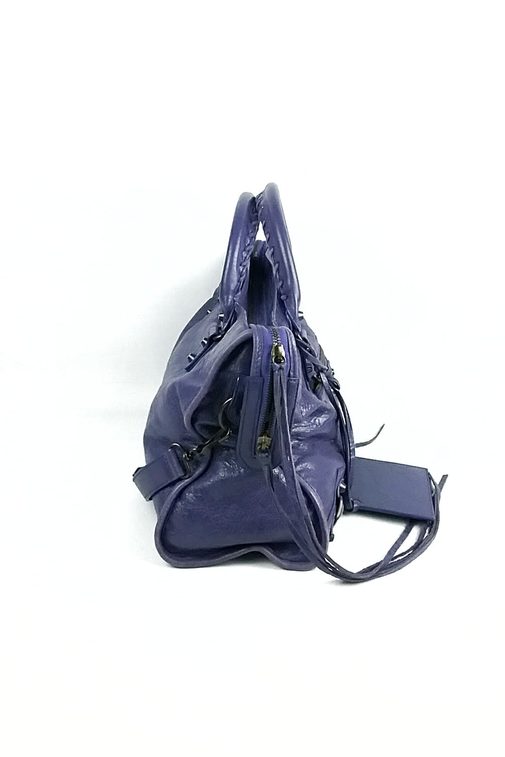 Metallic Purple Giant 12 Hardware City Bag