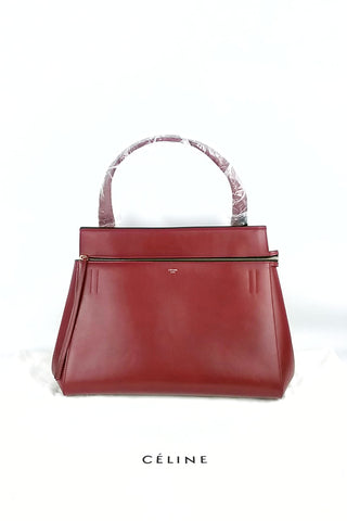 Red Smooth Leather Small Edge Bag
