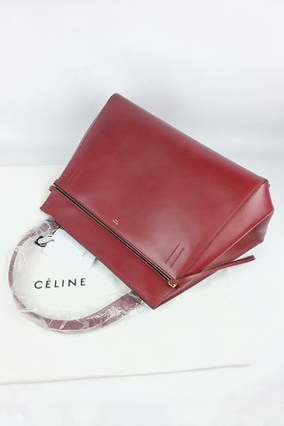 Burgundy Patent Leather Old Medium Boy Bag