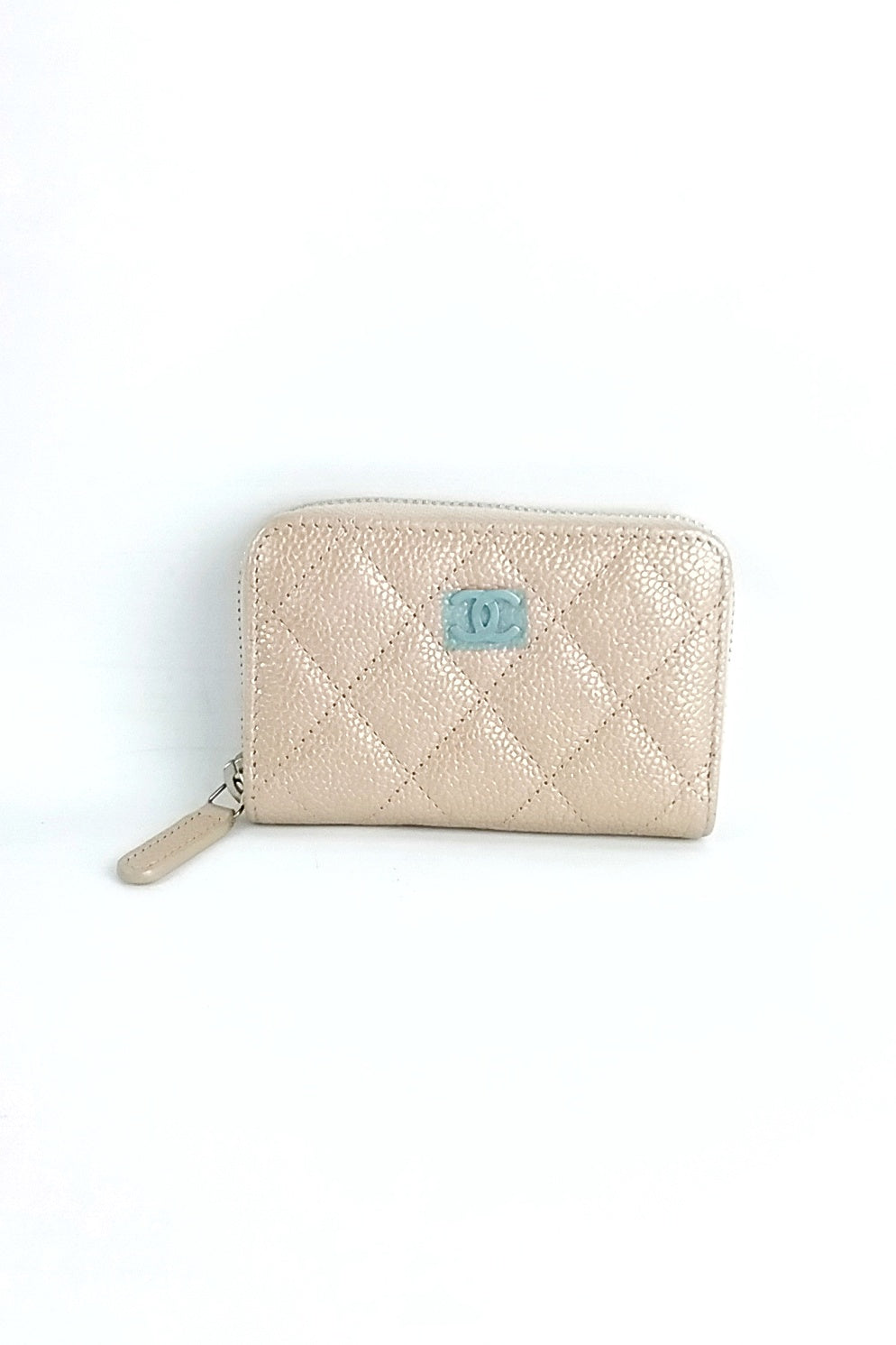 Nude Caviar Leather Cardholder SHW