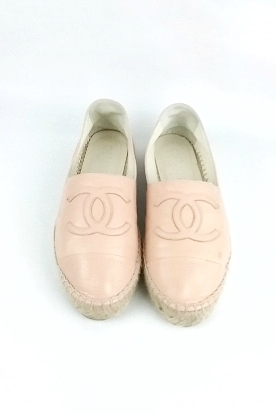 Pastel Pink Leather Espadrilles - ON LAYAWAY